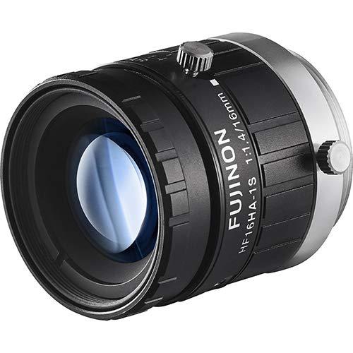Fujinon HF16HA-1S 2/3'' 16mm F1.4 Manual Iris C-Mount Lens, 1.5 Megapixel Rated, Anti-Shock & Vibration Feature