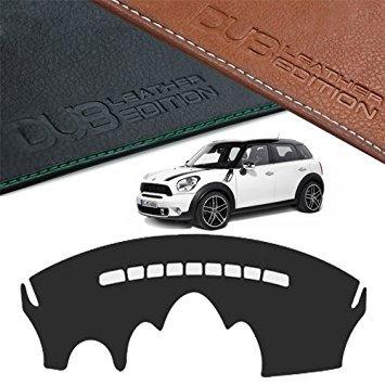 Custom Made Leather Edition Premium Dashboard Cover For MINI Cooper Countryman R60 (Black Leather) - Mini Dash Cover