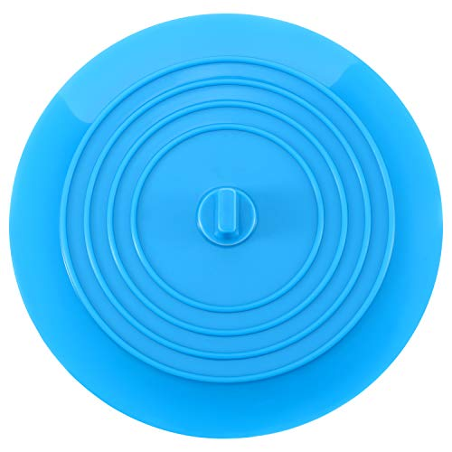 Mudder Silicone Tub Stopper Drain Plug for Kitchens, Bathrooms and Laundries 6 Inches (Blue)