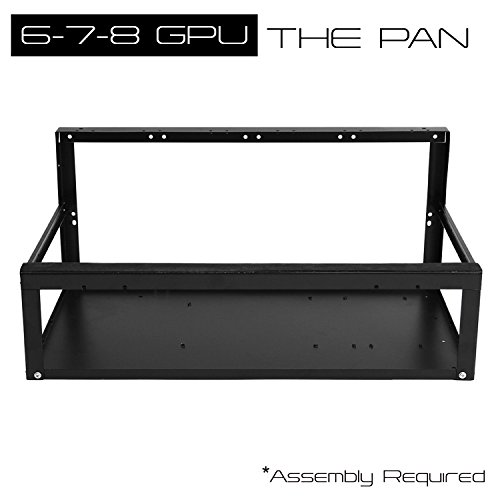 6-8 GPU Mining Frame 'The PAN' Stackable Iron Mining Rig Case - Easy to Assemble Case, Ethereum Zcash Coin Mining Chassis (Frame Only)