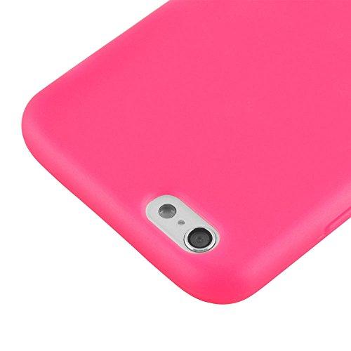 Flip-Case APPLE IPHONE 6 4.7 POUCES  [Le Jelly Glass Premium] [Bonbonrosa] von MUZZANO + 3 Display-Schutzfolien UltraClear + STIFT und MICROFASERTUCH MUZZANO® GRATIS - Das ULTIMATIVE, ELEGANTE UND LAN