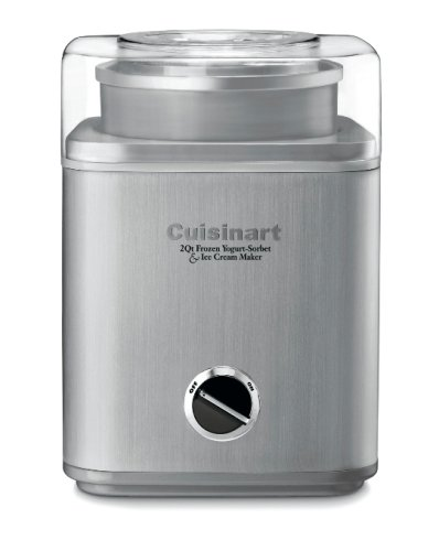 Cuisinart ICE-30BCFR Pure Indulgence 2-quart Frozen Yogurt-Sorbet & Ice Cream Maker, Brushed Stainless (Certified Refurbished)