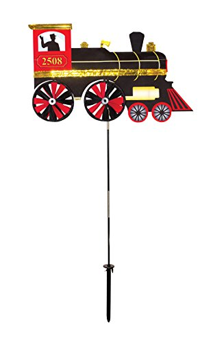 (In the Breeze 2508 Steam Engine Ground Spinner-Garden Decoration )