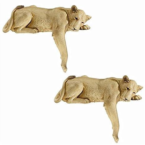 73.5 cm Design Toscano Lioness of Namibia Garden Wall Animal Statue Full Colour Polyresin