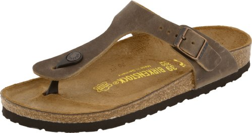 Birkenstock Women's GIzeh Thong Sandal, Tobacco Brown Leather, 37 N EU/6-6.5 2A(N) (Birkenstocks Clearance)