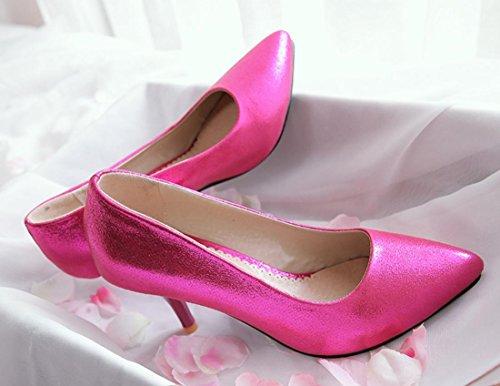 YCMDM Nuovo Tacchi alti donne scarpe da sera essenziali della molla di modo di autunno Oro Argento Blu Rosso 35 36 37 38 39 , red , 34