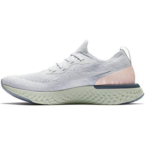 Nike Women's Epic React Flyknit Running Shoes (10.5, Grey/Blue) ()