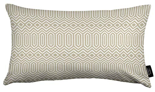 McAlister Textiles Colorado Filled Pillow Natural Taupe Aztec Geometric Tribal Decorative Throw Scatter Sofa Cushion Sham Size – 16 x 24 Inches