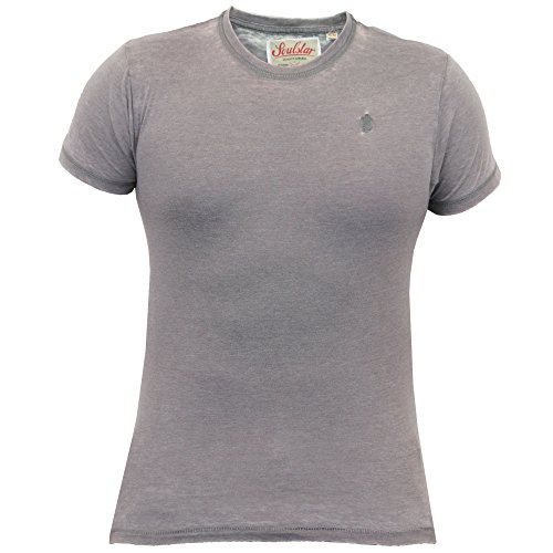 Herren T-shirt Soul Star Top Burnout-trikot Rundhals Kurzärmlig Freizeit Sommer - Grau - BURNSCREW, L