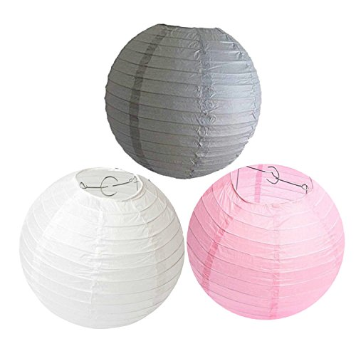 Somnr-Set-of-6-Mixed-8-White-Pink-Grey-Round-Paper-Lantern-Paper-Lights-Lampshade-for-Wedding-Birthday-Baby-Shower-Party-Hanging-Decoration-