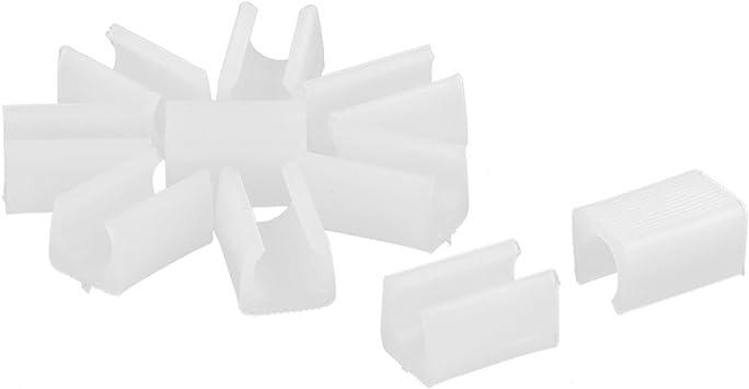 Sourcingmap Patins antidérapant PE Meubles Chaise Tube Pied Bouchon Protecteur Blanc diamètre 9 mm 10 pièces