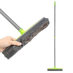 Amazon Com Push Broom Extra Long Handle Rubber Bristles
