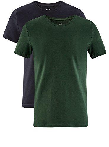 2 Etichetta T Di Basic Multicolore Uomo pacco Oodji shirt Senza 1907n Ultra 7nzfqwp
