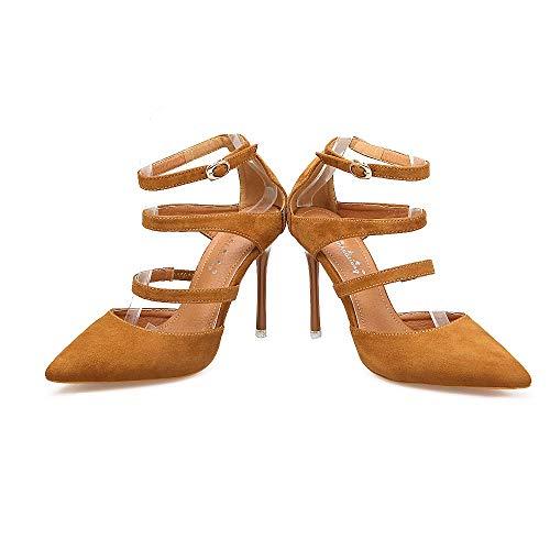 Fashion Hochhackiger High LIANGXIE Rom Fine Lady Heels Sandalen Ultimative Sandalen Hoher Schuhe Braun Spitze Heels Super High Handgefertigte Sandalen High Peeps High Heels Sommer fZ4qSX4