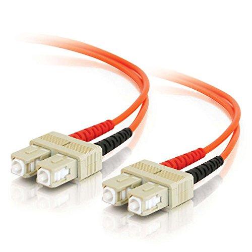 C2G/Cables to Go 09114 SC-SC 62.5/125 OM1 Duplex Multimode PVC Fiber Optic Cable, Orange (2 Meter/6.56 Feet)
