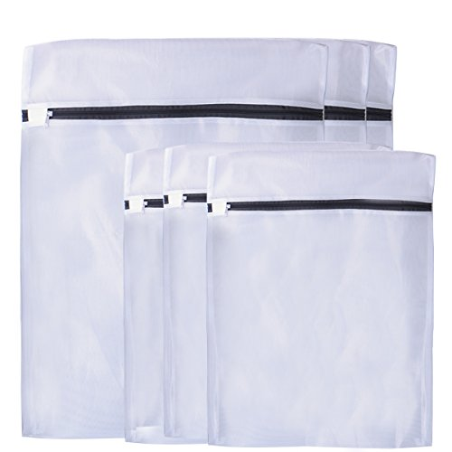 Laundry Bags,Wuudi Delicates Mesh laundry lingerie Protection Washing Drying Bags for Blouse, Hosiery, Stocking, Underwear, Bra and Lingerie Set of 6(3M+3L) (Discount Washer Dryer Set)