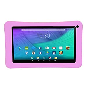 Transwon Silicone Case for RCA RCT6272W23, AOSON M753, AOSON Android 4.4 Allwinner A33, Nuvision 7, Astro Tab A737, Aceson A7 7, Digiland DL718M, Polaroid PTAB735, Azpen A746 - Pink