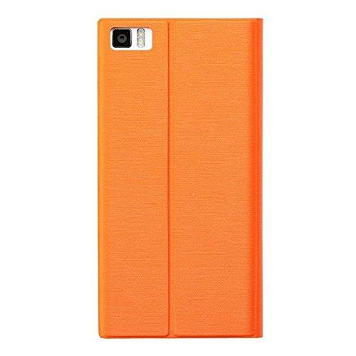 Original del tirón de la PU Funda de cuero protectora para Xiaomi mi3 (Color: Naranja) Naranja