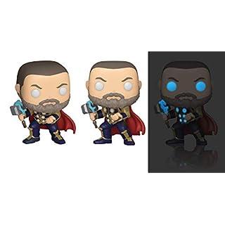 Funko Pop! Marvel: Avengers Game - Thor (Glow in The Dark), Amazon Exclusive,Multicolor