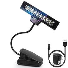 LED Table Lamp, SENHAI Energy-saving Clip 360 Degree Round Portable Book Light, Rechargeable USB Music Stand Light for Headboard in Bedroom Living Room Bathroom, US Plug