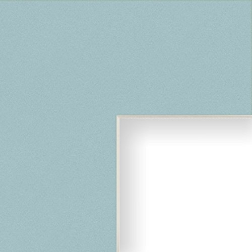 Craig Frames B464 16x20-Inch Mat, Single Opening for 11x14-Inch Image, Splash with Cream (Blue Picture Mats Matting)