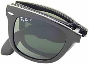 5c817a2e479 Ray Ban Folding Wayfarer RB4105 601 58 Black Crystal Green 50mm Polarized  Sunglasses
