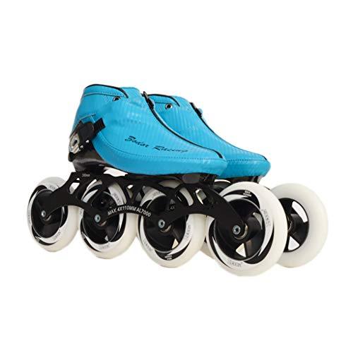医薬エスカレート味わうNUBAOgy インラインスケート、90-110ミリメートル直径の高弾性PU車輪、子供のための調整可能なインラインスケート、2色で利用可能 (色 : Green, サイズ さいず : 44)