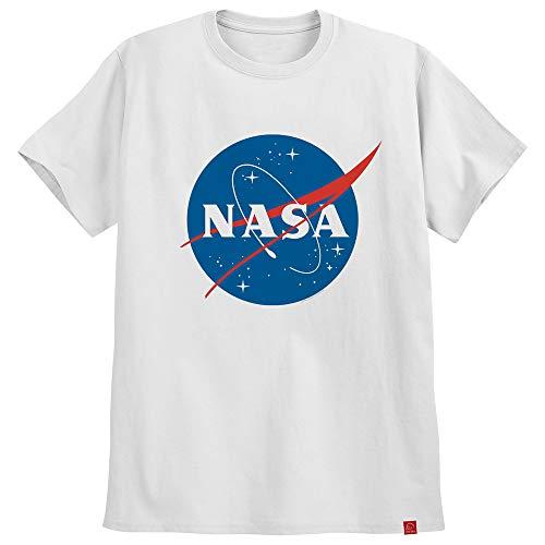 Camiseta Nasa Logo Azul Astronomia Camisa Geek Moda Tumblr XG