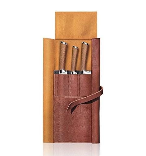 Cangshan H1 Series 59939 4 Piece Leather Roll Knife Set, Silver by Cangshan (Image #1)