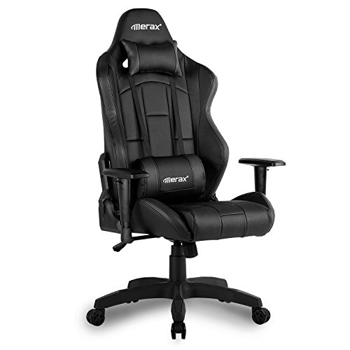 Multi Tilt Ergonomic Chair (Merax Racing Gaming Chair High Back Desk Chair Ergonomic Design Computer Chair (All black))