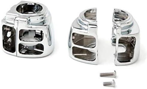 JPLJJ Harley Dyna Sportsters V-Rod Softail用2xクロームハウジングスイッチカバーオートバイ