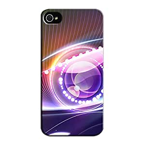 TPU Light Abstract Navy Light Abstract For Iphone 5/5s Protective Case