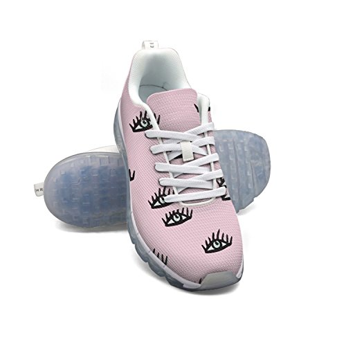 Modello Di Occhi Rosa Faaerd Womens Cuscino Daria In Mesh Traspirante Casual Moda Sneakers Palestra Atletica Scarpe Da Ginnastica Da Passeggio