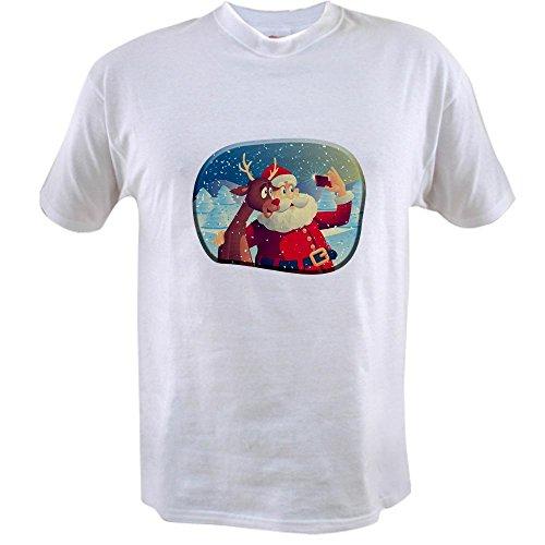 Snow T-shirt Value - Truly Teague Value T-Shirt Santa and Rudolf taking a Selfie - 4X