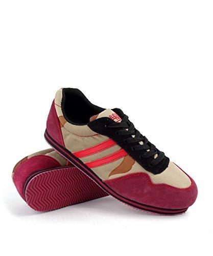 Doubles Camo Rouge Chaussures De Sport Bordeaux Herren