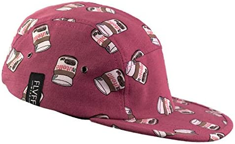 FLVFF Sombrero de 5 paneles para hombres mujeres gorra de béisbol de ala plana sombreros de camper Urban Street P2