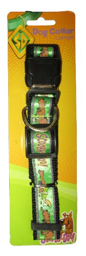 Scooby Doo Large Adjustable Green Collar with Clip & Ring