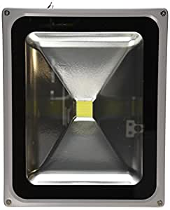 LanLan 50 Watt LED Waterproof Outdoor Security LED Floodlight 90-260 Volt AC, Super Bright White