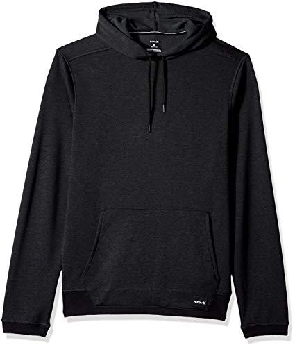 - Hurley Men's Nike Dri-Fit Disperse Fleece Hoodie, Black//Anthracite, M