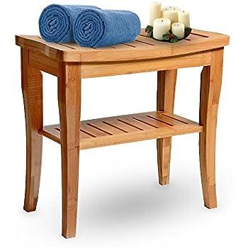 Amazon Com Teak Wood Folding Shower Seat Bench Stool