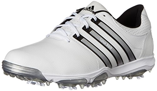 adidas Men's Tour 360 X, Running White/Black/Silver Metallic, 11 M US