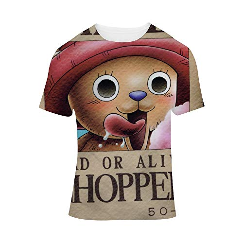 BSDHGSDH ONE Piece ワンーピス Unisex All-Over 3D Printed Graphic T-Shirts Short Sleeve Tees Men's Assorted V-Neck T-Shirts Ultra Soft Cotton T-Shirt Tony Tony Chopper A Bounty for M