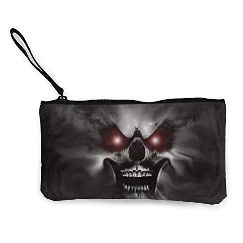 Oomato Canvas Coin Purse Skull Black Bone Cosmetic Makeup Storage Wallet Clutch Purse Pencil Bag]()