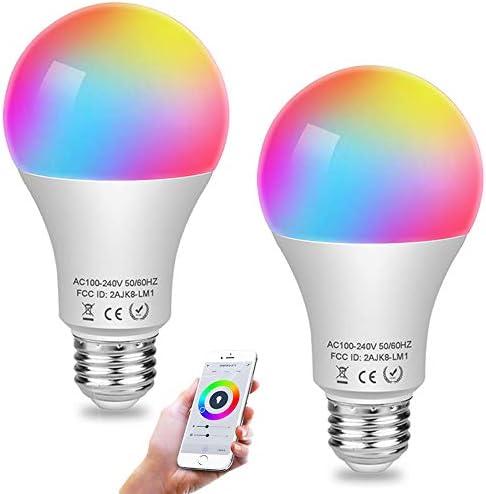 Aigital Color Light Bulb Smart WiFi Light Bulbs LED Bulb Work