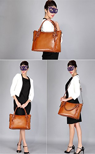 2378747ccb BIG SALE-AINIMOER Women s Large Leather Vintage Shoulder Bags ...