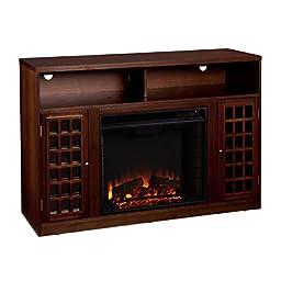 Narita Media Electric Fireplace - Espresso