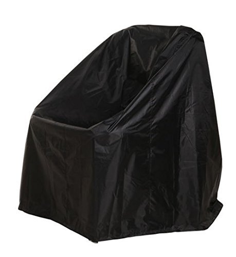 SUKKI Patio Chair Cover Sofa Gas Grill Cover Durable Water Resistant Outdoor Furniture (Black Patio Furniture Covers)