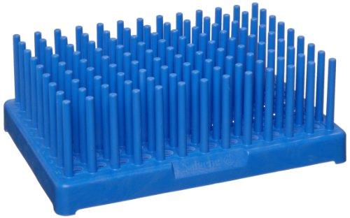 (Nalgene 5977-0313 Blue Polypropylene Test Tube Peg Rack for 13mm Test Tubes, Blue (Pack of 2))