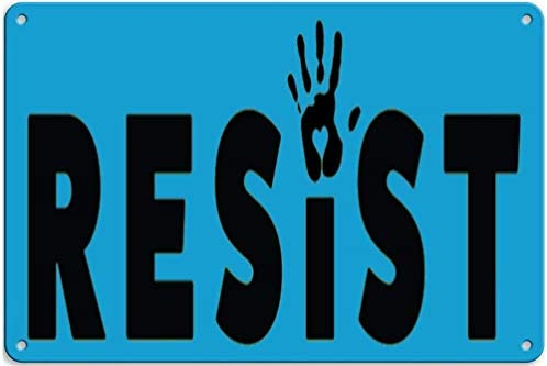 Resist with Hand Tin Wall Sign Metal Fender Cartel De Chapa ...
