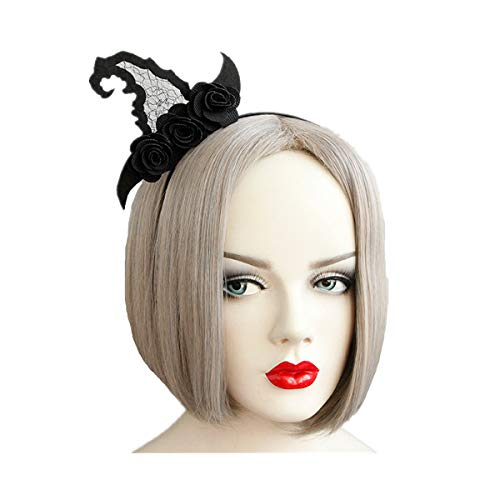 Price comparison product image WINZIK 2 Pcs Halloween Hair Hoop Headwear Witch Hat Hairband Accessories Cosplay Party Props For Women Girls (Style 1#)